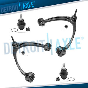Pair New Upper Steel Control Arms Lower Ball Joints For Aluminum Control Arms