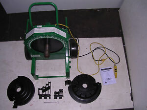 Greenlee 555 Conduit Pipe Bender 2 Rigid Pvc Shoes 2 Rollers 1 2 To 2 Imc Emt
