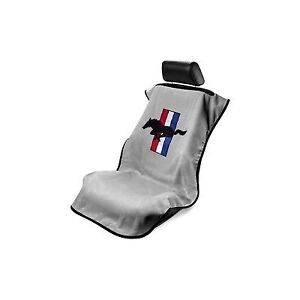 Grey Mustang Pony Seat Armour Seat Cover Seat Towel