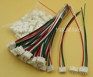 500 Set Xh2 54 Single head 4pin Wire To Board Connector 15cm 24awg With Socket