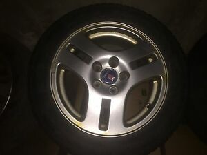 Saab Viggen Rims 4 With Snow Tires 4 Winter Tires Mounted On 16 Inch Rims