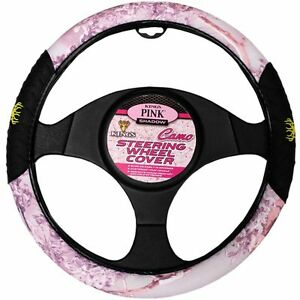 King S Camo Pink Shadow Universal Fit Car Truck Steering Wheel Cover