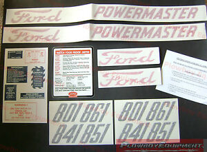 D 8015862 Ford 801 841 851 861 Tractor Decal Kit Set 1958 1962