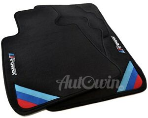 Bmw 1 Series E81 E82 Black Floor Mats With M Power Emblem Clips Lhd