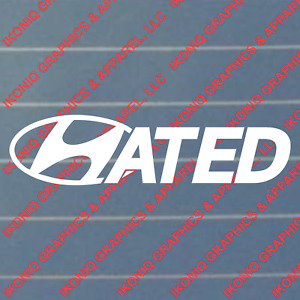 Hated Decal Kdm Import Car Sticker