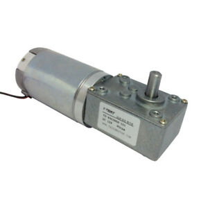 12v 80rpm Dc Worm Gear Motor High Torque Pmdc Speed Reducer Motor With Gearbox