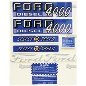 New Ford 4000 Select o speed Diesel Complete Decal Set