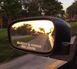 2x Objects In Mirror Are Losing Funny Decal Mirror Sticker Jdm Domo Drift Euro