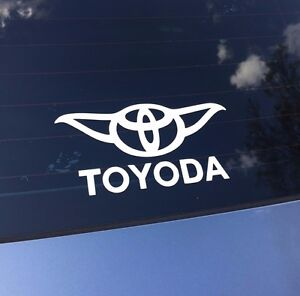 Funny Toyoda Star Wars Yoda Decal Sticker Vinyl Window Bumper Wall