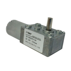 12v 110rpm Small Worm Reduction Geared Motor Electric Dc Gear Motor With Gearbox