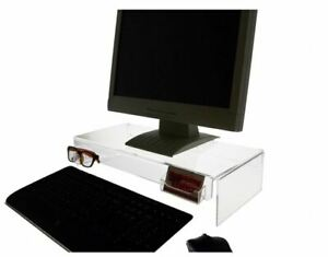 Computer Monitor Desk Riser Stand With Sunglasses And Business Card Holder