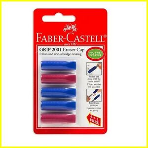 Faber castell Grip 2001 Eraser Cap Pencils Lead Protector 1 Pack With 5 Items