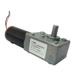 Dc Gear Motor 12v 110rpm Small Worm Reducer Motor With Gearbox 12v 110rpm