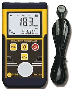 Tm130d 225mm Digital Ultrasonic Wall Thickness Gauge Tester Meter Fo Metal Steel