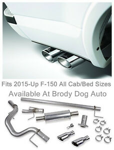 2015 2019 Ford F150 Roush Dual Side Exit Exhaust Cat Back Stainless Steel 421985