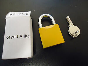 Lot Of 6 Yellow Managers Lock Keyed Alike Manager s Locks Sp 7140