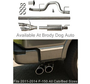 2011 2014 Ford F150 Roush Dual Side Exit Exhaust Cat Back Stainless Steel 421711