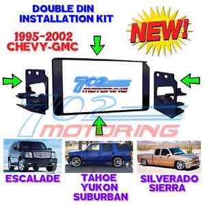 1995 2002 Gm Full Size Truck Suv Double Din Car Stereo Installation Dash Kit