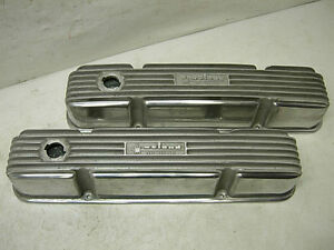 1960s Nos Weiand Mopar 413 426 Aluminum Valve Covers Old Say Why And 4 Bolt New
