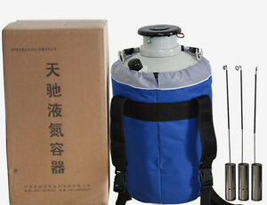 Ce Cryogenic Liquid Nitrogen Container Ln2 Tank Dewar With Straps A Yds 6 6l