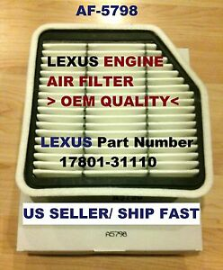 Engine Air Filter For 06 13 Lexus Is250 Is350 Is250c Is350c Gs350 Gs430
