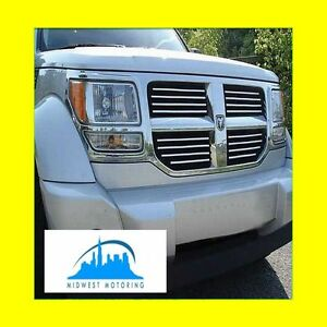 2007 2011 Dodge Nitro Chrome Trim For Grill Grille 5yr Warranty