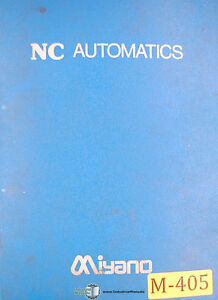 Miyano Knc 45 Automatics Programming And Maintenance Manual