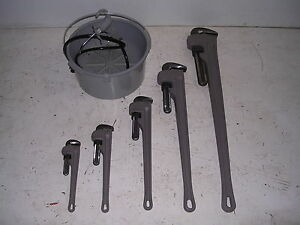 Bucket Oiler 5 Aluminum Pipe Wrenches 4 Rothenberger Collins Pony Pipe Threader
