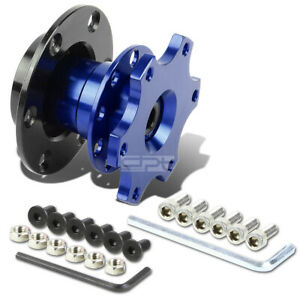 Universal Jdm 2 6 hole bolt Steering Wheel Quick Release Hub Adapter Kit Blue