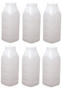6 Ea Advance 980 2 Quart Screw Top Replacement Calf Livestock Feeding Bottles