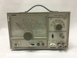 Leader Signal Generator 17a 110v 9111612 No Warranty