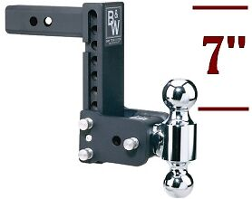 B W Tow Stow Double Ball Adjustable Receiver Hitch 2 2 5 16 Ts10040b