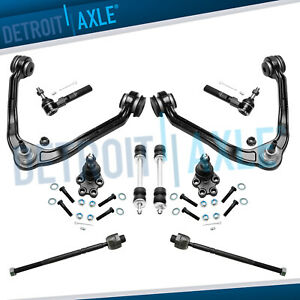 10pc Front Upper Control Arm Lower Ball Joint Tierod Sway Bar For Gmc Chevy 2wd