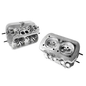 New Pair Vw 1600 Dual Port High Performance Cylinder Heads 90 5 92mm Bore
