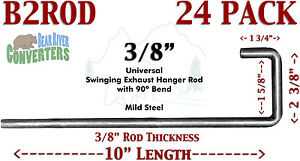 B2rodx24 Universal Exhaust Southern Hanger 3 8 Rod 90 J Hook Style 10