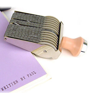 Alphabet English Number Rolling Rubber Stamp Custom Name Card Decorate Writing