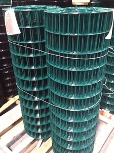 2x4 14g 48 x100 Green Pvc Coated Galvanized Welded Wire Mesh Rolls gaw