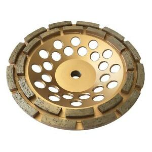 7 Concrete Grinding Cup Wheels 24 Diamond Abrasive Seg 5 8 11 Arbor Double Row