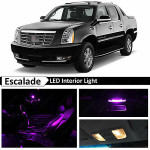 18x Purple Led Light Interior Package For 2007 2014 Cadillac Escalade Ext