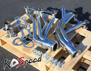 Stainless Steel Ss Exhaust Long Tube Header For 77 84 Chevy Rounded Line Sbc V8