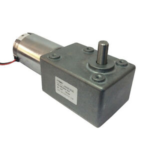 Dc 12v 10rpm High torque Worm Reducer Geared Motor Low Speed Gearbox Motor