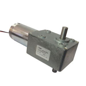 Dc12v 3rpm High Torque Worm Reducer Geared Motor Low Speed Double Shaft Gearbox