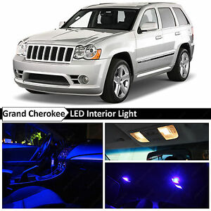 12x Blue Interior Led Lights Package For 2005 2010 Jeep Grand Cherokee