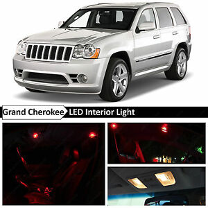 12x Red Interior Map Dome Led Lights Package For 2005 2010 Jeep Grand Cherokee