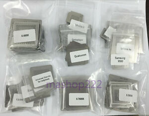 Direct heated Stencils For All Bga Chips Xbox Ps3 Gpus Iphone Chip 648pcs kit