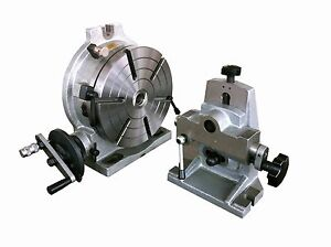 10 Precision H V Rotary Table With Dividing Plate And Tailstock