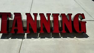 Outdoor Led Tanning Sign