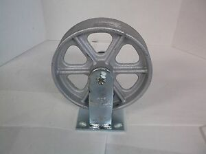 New Albion 8 Inch Diameter X 2 Inch Wide Wheel Cast Iron Plate Caster h9t