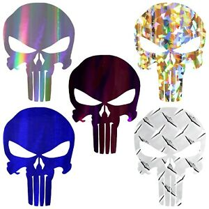 Punisher Sticker Chrome Vinyl Punisher Skull Decal