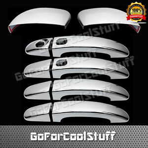 For Ford Focus 13 14 4drs Handle W o Psgkh mirror W o Signal 2pc Chrome Covers